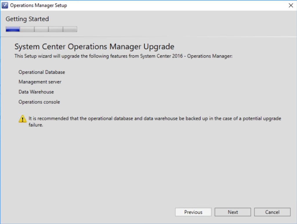 Upgrade SCOM 2016 to 1801 - System Center Automation