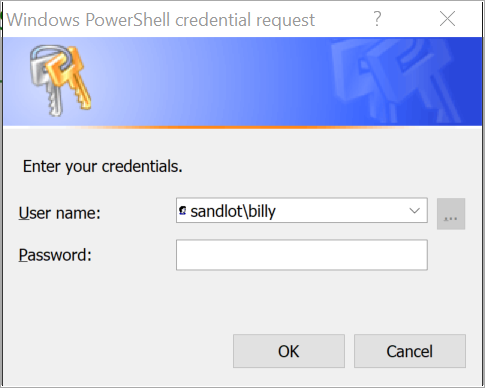 powershell credential scom