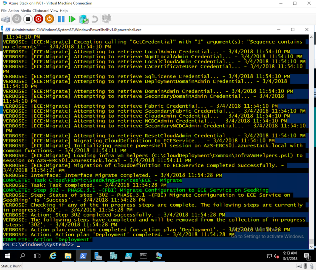 azure stack development kit hyper-v powershell