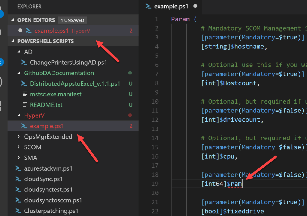 visual studio code powershell errors
