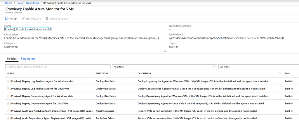 Install Azure Monitor Agent with Azure Policy
