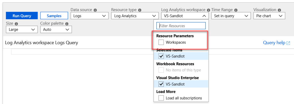 Workbooks Dynamically Select Resources