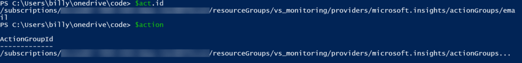 Azure Monitor PowerShell Modules