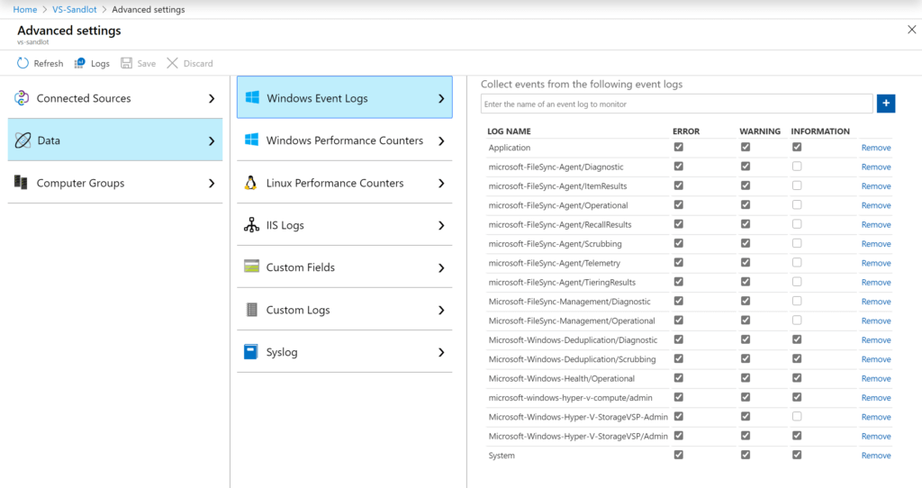Azure Monitor Event Log Workbook