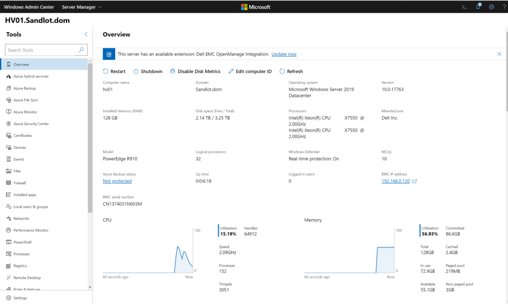 Replace RDCMan with Windows Admin Center